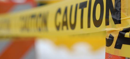 caution construction site